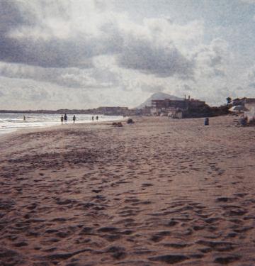 La playa por la mañana